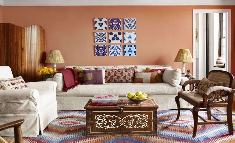 clay paint ideas for living room