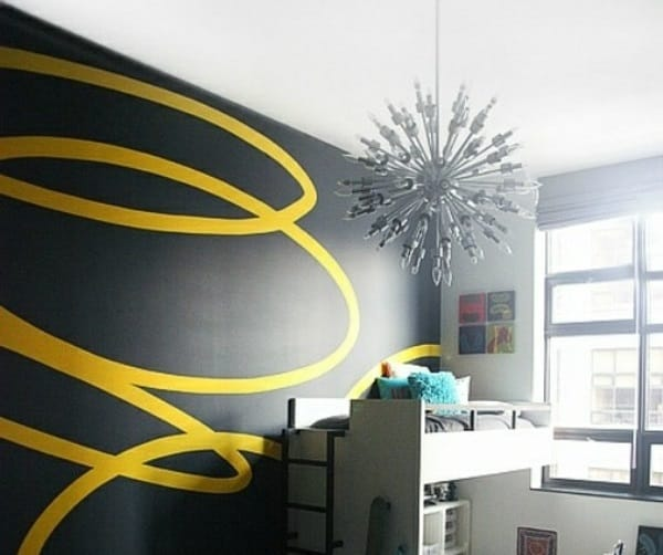 freehand painting for living room