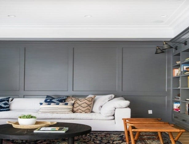 gray color painting for living room