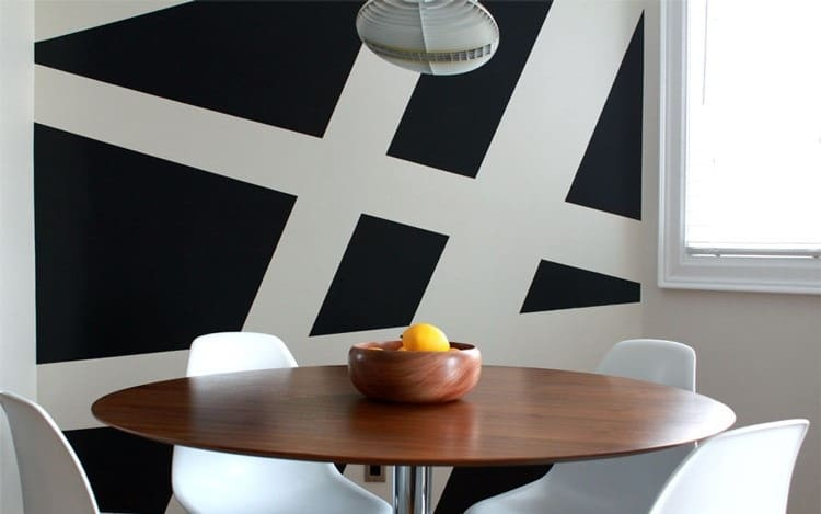 large scale stripe paint idea for living room