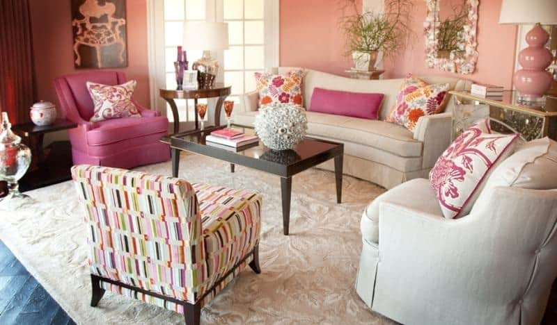 pink paint designs for living room