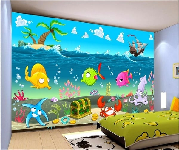 Animation wall design for bedroom