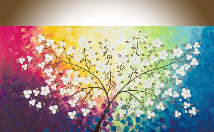 Colorful Magic Acrylic Tree Wall Painting