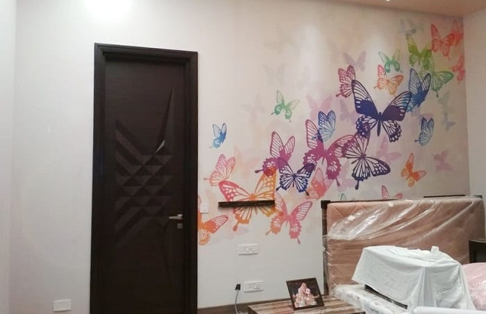 Multi-colored butterfly design
