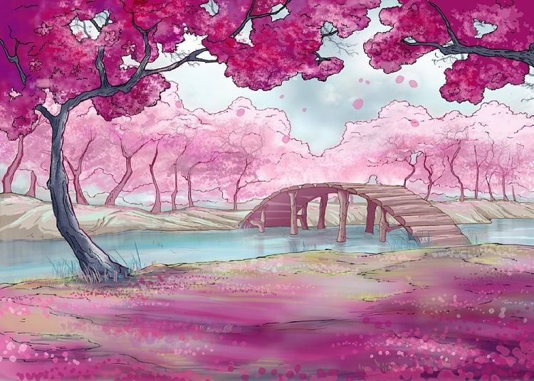 traditional japanese landscape painting