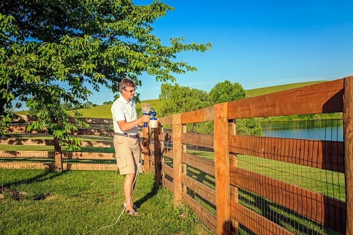 best paint sprayer for fence stain