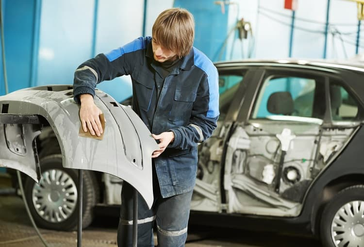 what grit sandpaper to use when painting a car